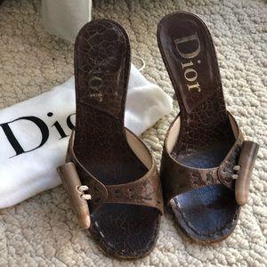 Brown Dior Mule
